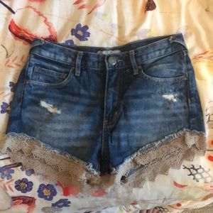 free people lace lined shorts - size 24